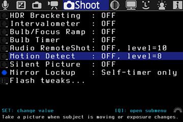 Shoot | Magic Lantern